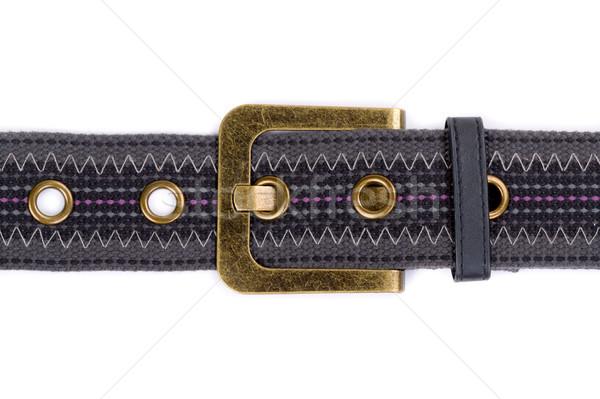 fashion fabric belt with metal buckle Stock photo © RuslanOmega