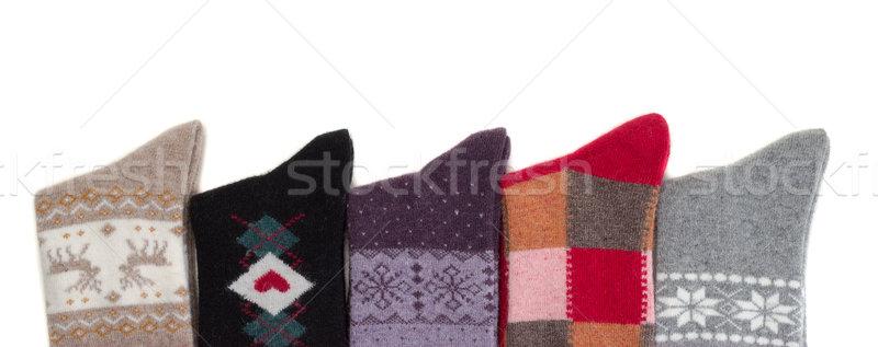 трикотажный носки новых пять Сток-фото © RuslanOmega