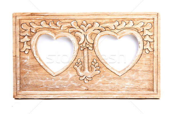 Wooden frame for photo Stock photo © RuslanOmega