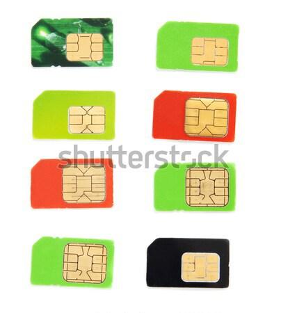 Oito colorido cartão branco internet telefone Foto stock © RuslanOmega