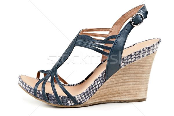 Pantoufle sandales isolé blanche design beauté Photo stock © RuslanOmega