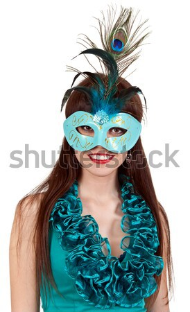 The Boy in the masquerade mask with feathers Stock photo © RuslanOmega
