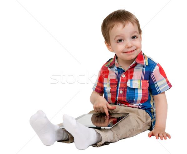 Bambino isolato bianco baby felice Foto d'archivio © RuslanOmega