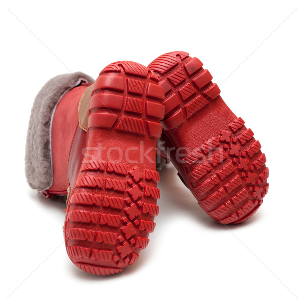 Sole baby winter boot with fur Stock photo © RuslanOmega