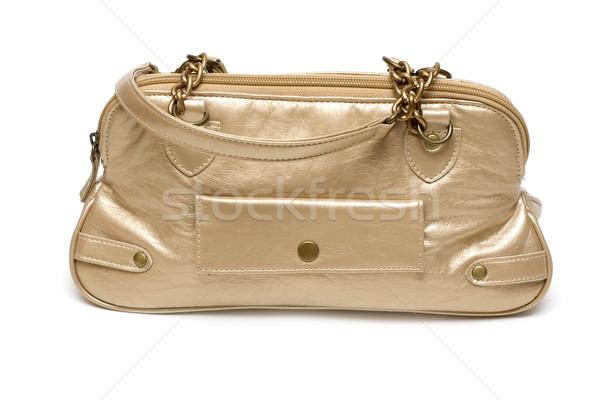 Arany hölgy táska fehér divat szépség Stock fotó © RuslanOmega