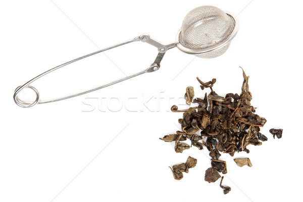 Dry green tea and strainer Stock photo © RuslanOmega