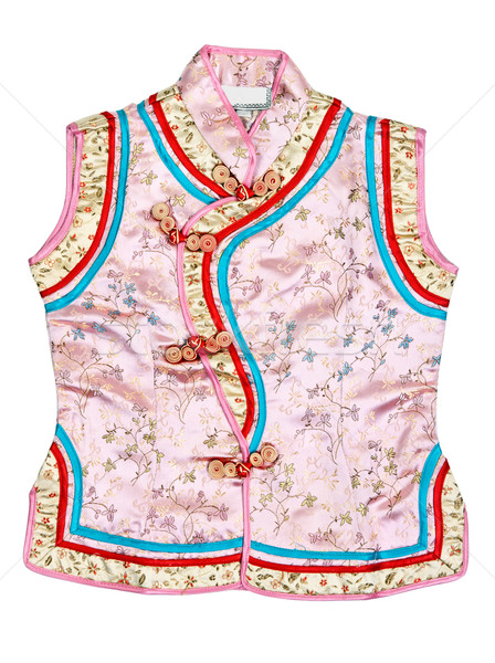 Eastern baby dress with an embroidered floral pattern Stock photo © RuslanOmega