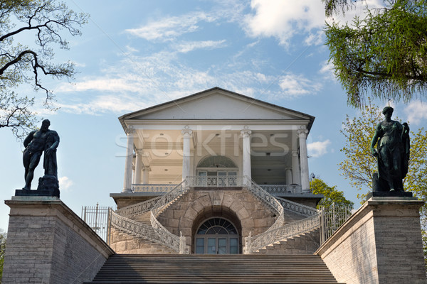 Stock photo: entrance to the old building