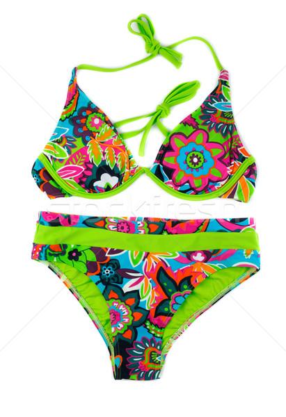 Multicolored, green separate swimsuit. Stock photo © RuslanOmega