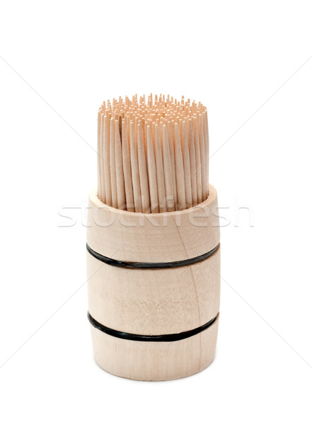 Birch of the toothpick in wooden cask Stock photo © RuslanOmega