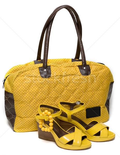Yellow lady bag and yellow sandals  Stock photo © RuslanOmega