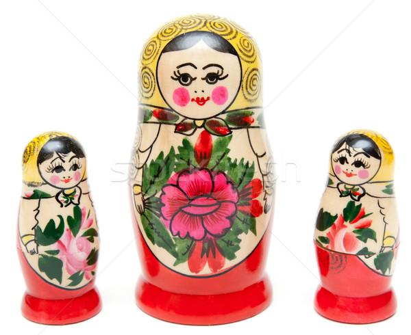 Three sets of nesting dolls stand Stock photo © RuslanOmega