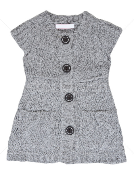 Grey knitted waistcoat with the buttons Stock photo © RuslanOmega