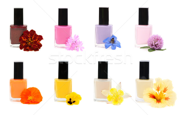 Collage Nail polish with flower  Stock photo © RuslanOmega