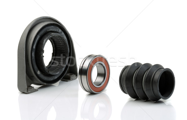 Set of bearing of the propeller shaft support bearing and shaft  Stock photo © RuslanOmega