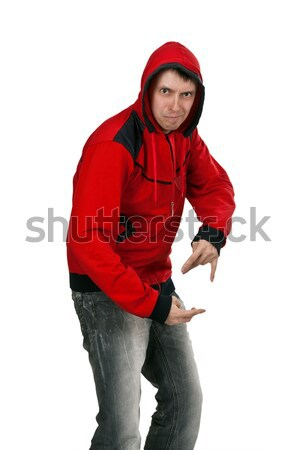 young rapper in the red sweater Stock photo © RuslanOmega