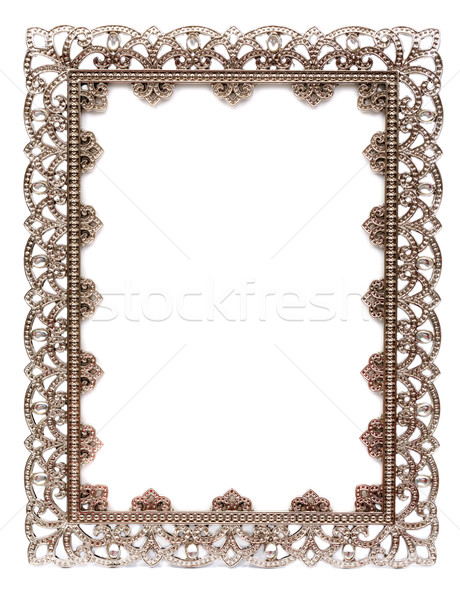An empty metal frame isolated on white Stock photo © RuslanOmega