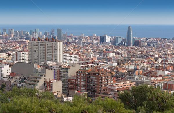 View of Barcelona from Mount Tibidabo Stock photo © RuslanOmega