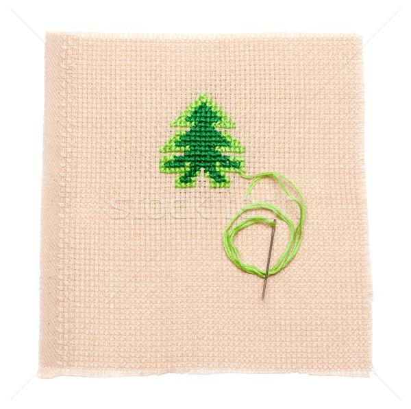Green spruce on fabrics, needle Stock photo © RuslanOmega