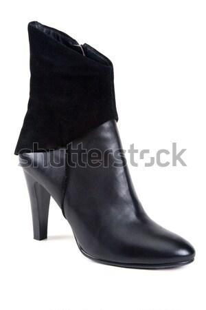 Black leather feminine shoe Stock photo © RuslanOmega