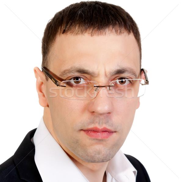 Portret zakenman onzeker studio witte Stockfoto © RuslanOmega