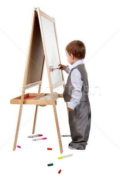 ребенка мольберт студию белый образование Сток-фото © RuslanOmega