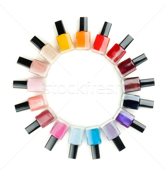 Nail polish arranged in a circle Stock photo © RuslanOmega