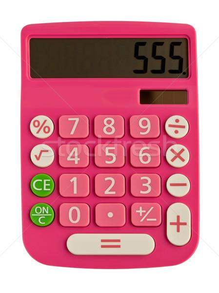Сток-фото: розовый · калькулятор · Рисунок · отображения · бизнеса