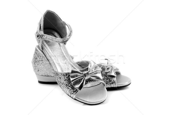 Sandalen meisjes witte mode achtergrond Stockfoto © RuslanOmega