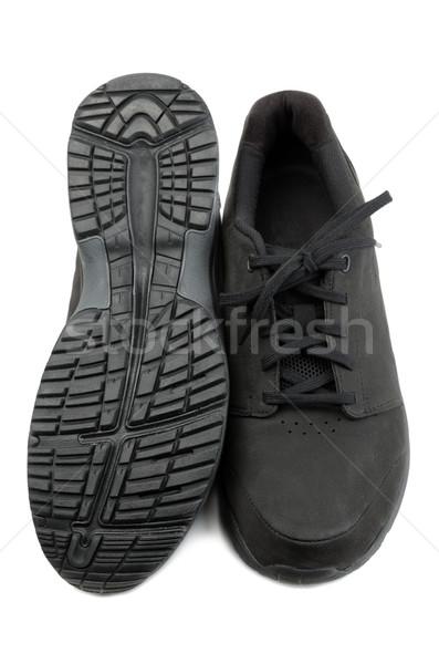 Preto sapatos par homens branco Foto stock © RuslanOmega