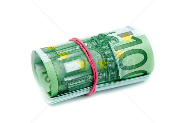 100 Euro rolled isolate on white Stock photo © RuslanOmega