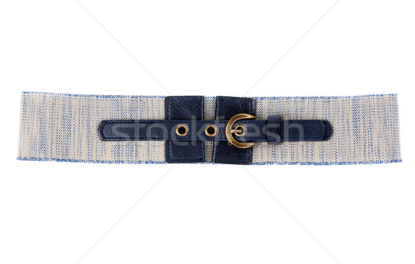 Grey Women's belt with leather inset Stock photo © RuslanOmega