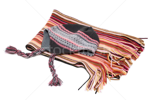 Hat and striped scarf Stock photo © RuslanOmega