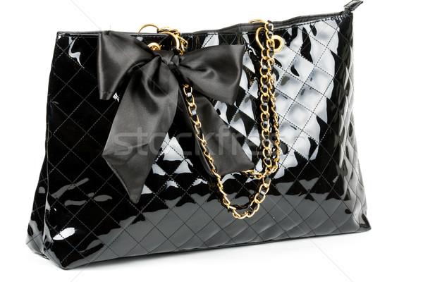 black glossy women's handbag Stock photo © RuslanOmega