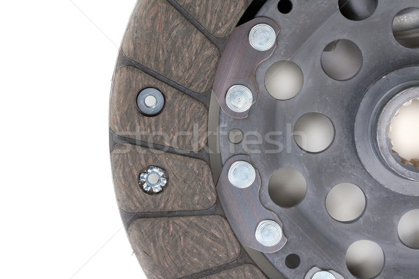Auto Parts. Clutch plate closeup Stock photo © RuslanOmega