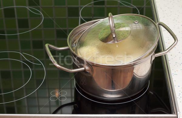 Saucepan with boilling food Stock photo © RuslanOmega