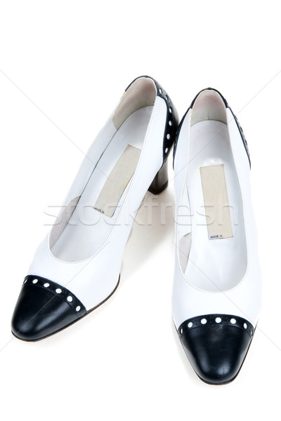 White feminine varnished loafers Stock photo © RuslanOmega