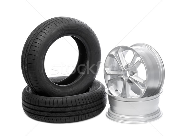 Two wheels and tires for the car.  Stock photo © RuslanOmega