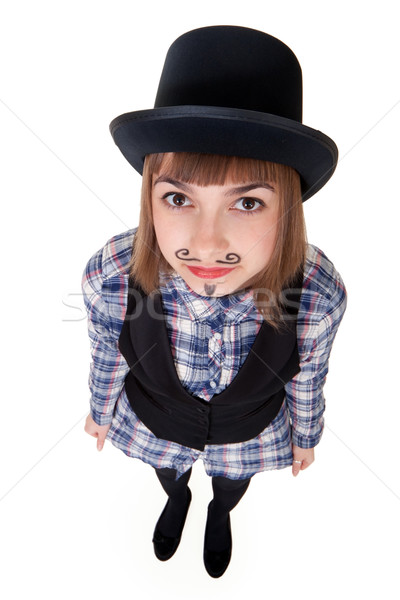 Girl with painted mustaches Stock photo © RuslanOmega