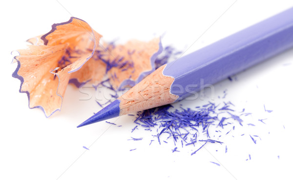 Sharpened pencil and wood shavings Stock photo © RuslanOmega