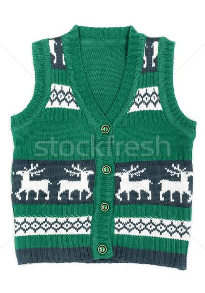 De punto chaleco Navidad ornamento ciervos Foto stock © RuslanOmega