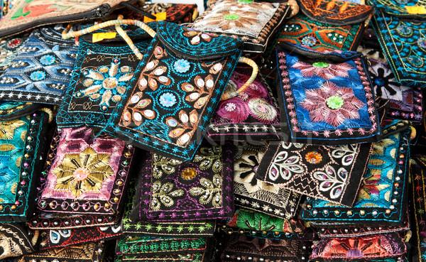 Embroidered oriental patterned purses Stock photo © RuslanOmega