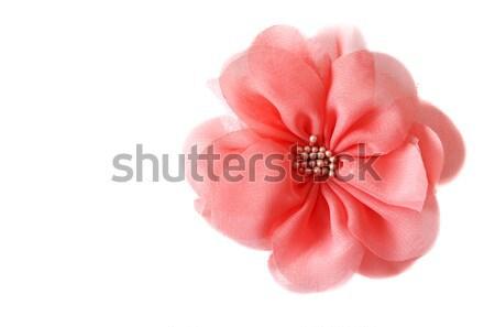 Red fabrics rose Stock photo © RuslanOmega