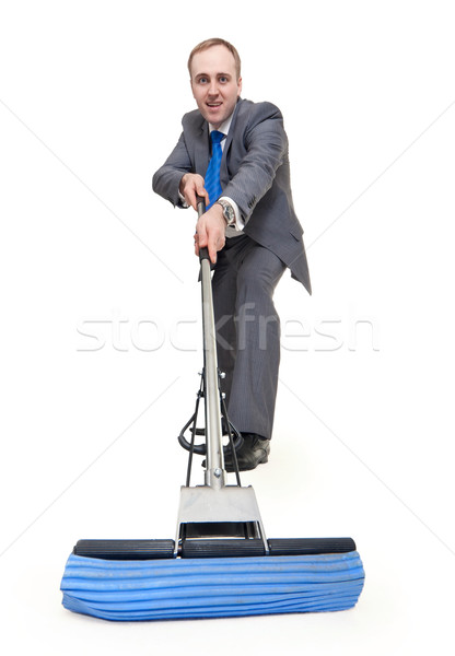 businessman with a mop Stock photo © RuslanOmega