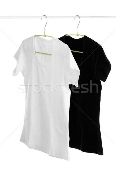 black and white t-shirt on a hanger Stock photo © RuslanOmega