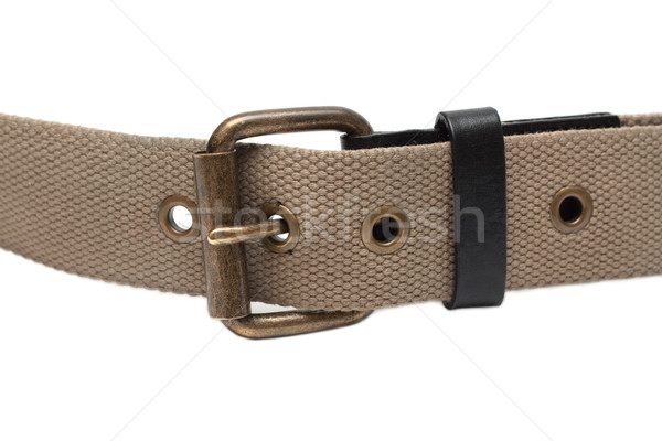 Cloth belt with iron buckle Stock photo © RuslanOmega