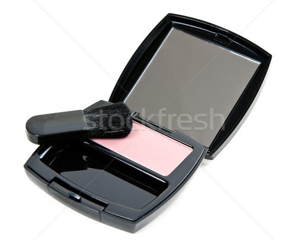 cosmetic set rouge with mirror and brush Stock photo © RuslanOmega
