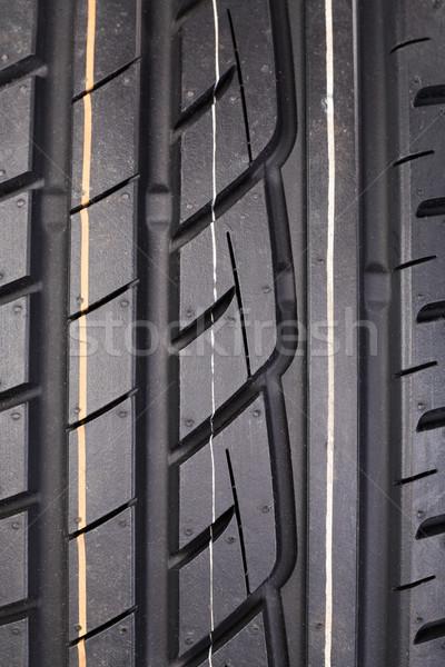 Closeup of rubber tire tread Stock photo © RuslanOmega