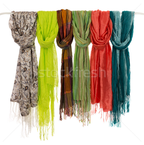 colored scarves on a hanger Stock photo © RuslanOmega