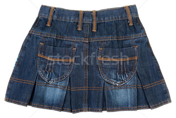 Jeans minirok textuur mode dansen Blauw Stockfoto © RuslanOmega